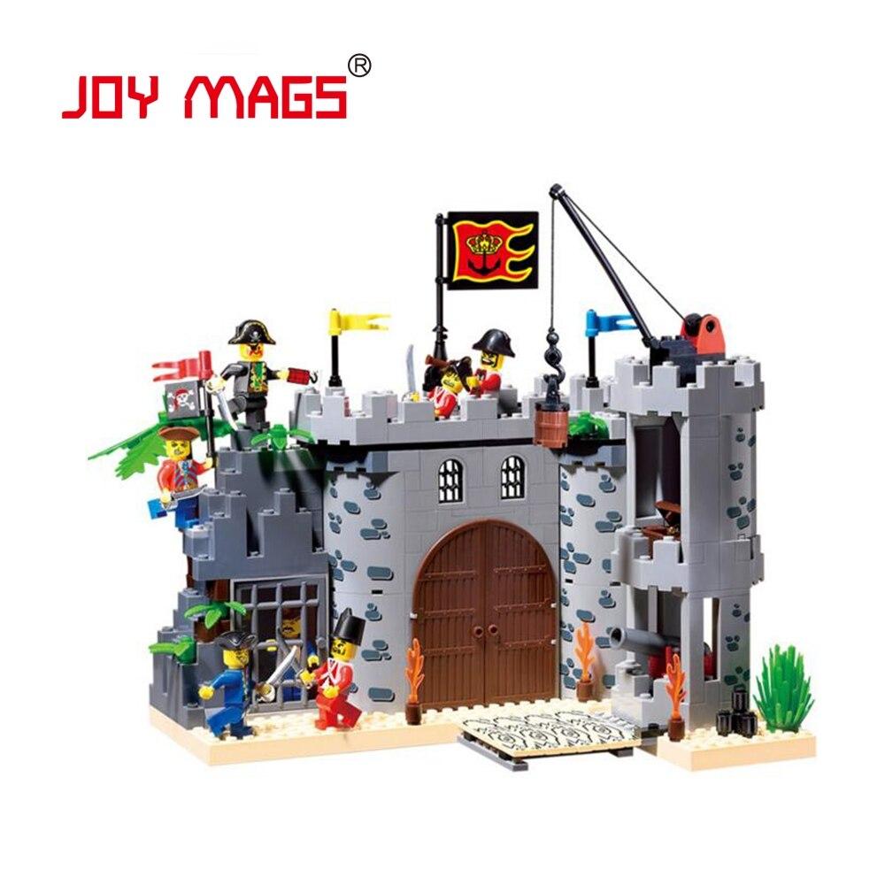 ФОТО JOY MAGS 310 City Pirate Castle 310 Blocks Educational Model & Building Toys Hobbies for Children Building Blocks