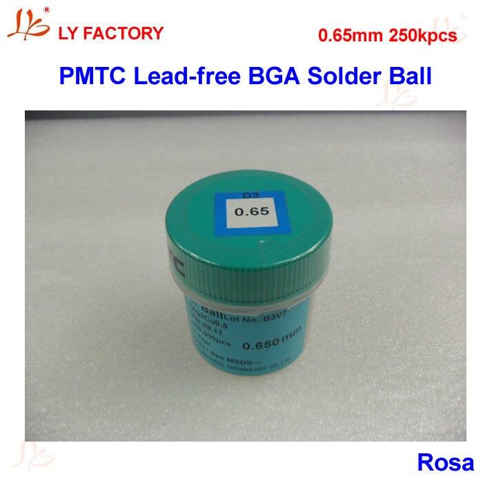 PMTC LeadFree BGA Solder Ball 0.65mm 250K pcs/bottle For BGA Chips Reballing Repairing pmtc 250k 0 65mm leaded free bga solder ball for bga repair bga reballing kit bga chip reballing