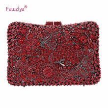 Fawziya Butterflies And Flowers Clutch Evening Bags And Purses For Women