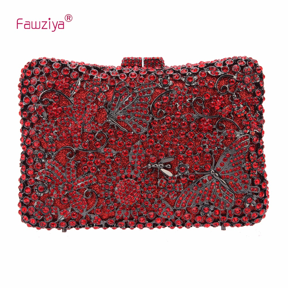 Fawziya Butterflies And Flowers Clutch Evening font b Bags b font And Purses For font b