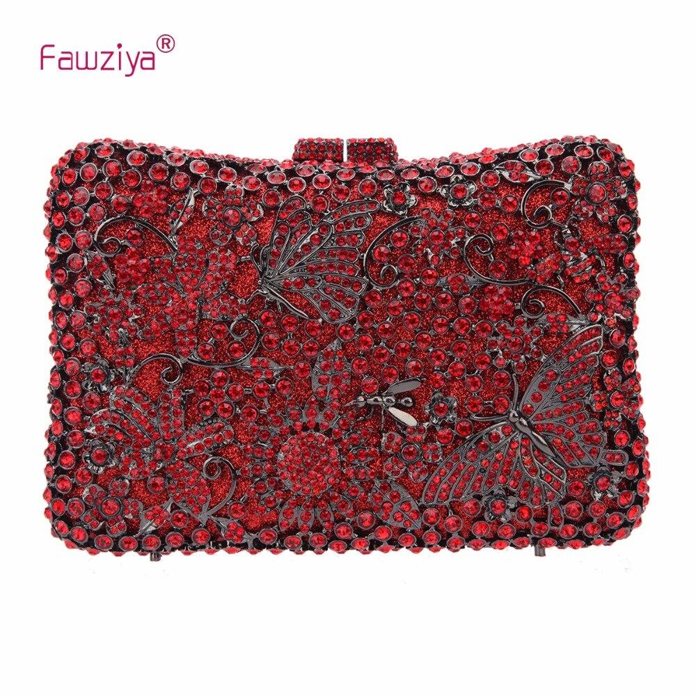 Fawziya mariposas y flores bolsos de noche y bolsos de embrague bolsa caliente p