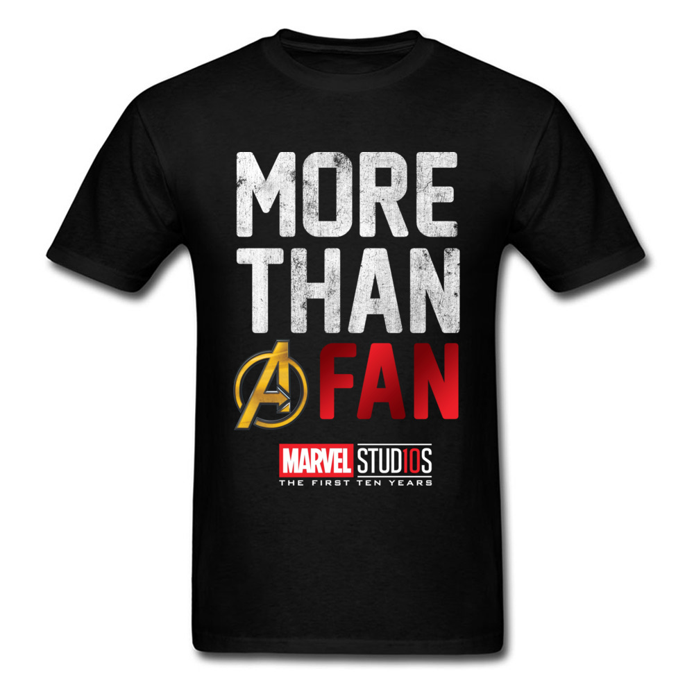 USA Marvel Avengers Hommes T-shirt Col Rond Pur Coton Plus Qu'un Fan Tops Shirt L'europe Tops & T-shirts Infinity guerre Logo
