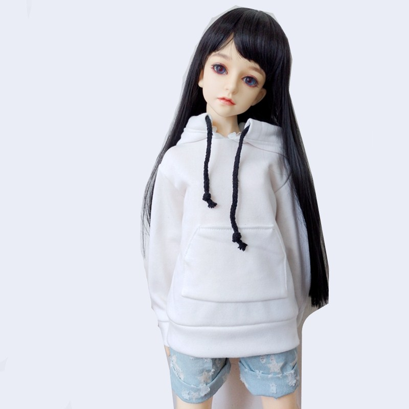 1/6 1/4 1/3 BJD SD Doll Clothes Sweatshirt for Doll Accessories,Casual Wear Blouse Shirt Fashion Doll Clothing Outfits for Dolls beioufeng 1 3 1 4 1 6 sd bjd doll clothes include shirts black skirt and tie student uniform bjd clothes for dolls accessories