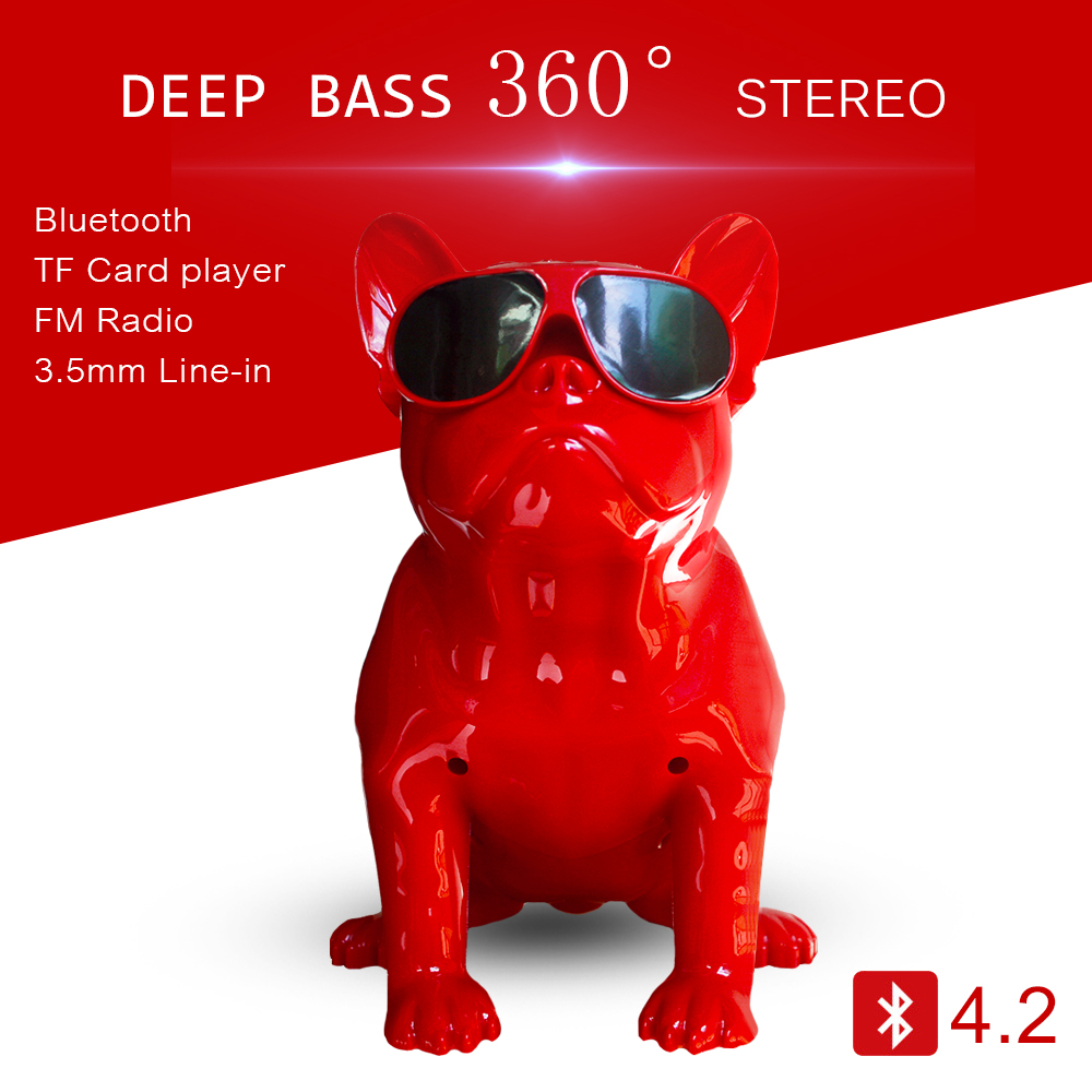 Wireless Bluetooth Speaker Column Computer 2.1 Deep Bass Full Bulldog Speaker Subwoofer support PC TF MP3 player with Charger