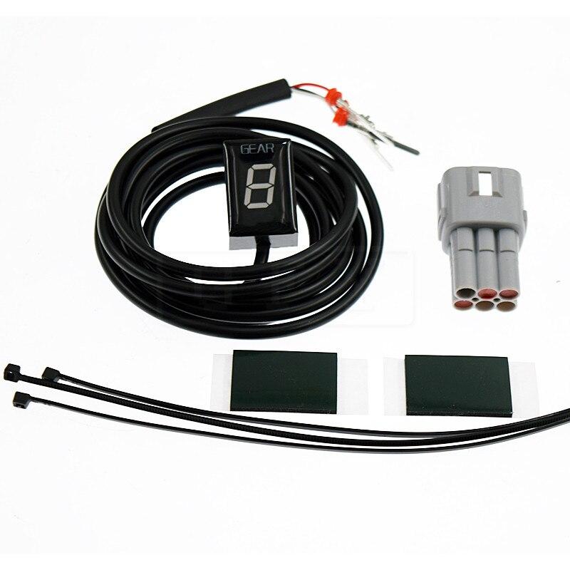 Moto LCD Électronique 6 Vitesse 1-6 Niveau Indicateur de Vitesse numérique de Vitesse Indicateur Pour Suzuki DL650 DL1000 v-strom DL 650 1000 FI