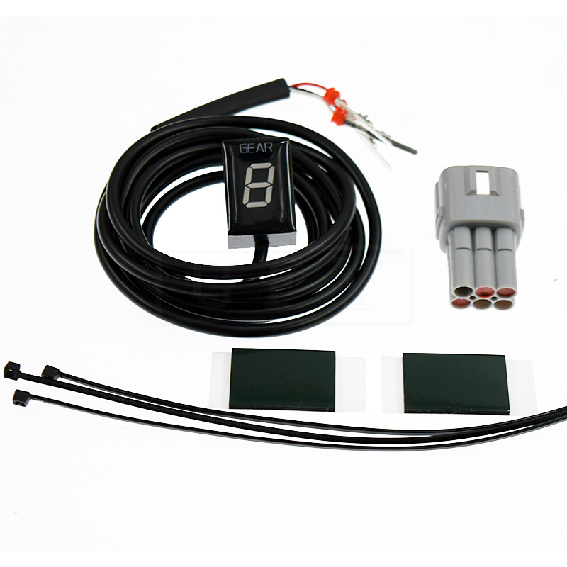 Motocicleta LCD Eletrônica 6 Velocidade 1-6 Nível Indicador de Marcha Digital Medidor de Engrenagem Para Suzuki DL650 DL1000 VStrom DL 650 1000