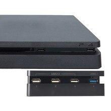 PS4 тонкий Продлить USB адаптер Аксессуары для Play Station 4 Slim консоли USB HUB 3,0 High Скорость & 2,0 USB порт для Playstation 4
