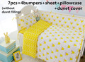 Promotion! 6/7PCS Crib Cot baby bedding set curtain berco crib bumper baby bed ,Duvet Cover,120*60/120*70cm