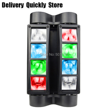 Promote sale Mini LED Beam Spider 8x10W RGBW Moving Head Lighting LED Stage Light Good For Parties DJ Disco Wedding Decoration цена и фото