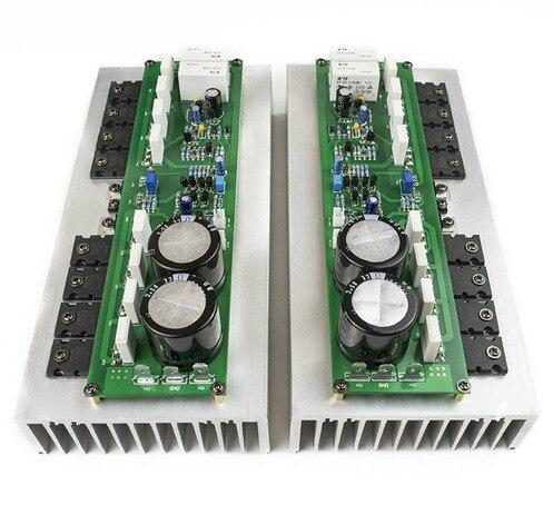 PR-800 1000W Class A / Class AB Professional stage power amplifier board Power tube TTA1943 TTC5200 + MJE15032 15033 new 2ps pr 800 class a class ab professional stage hifi amplifier board with heatsink 2 0 home 1000w high power amplifier board