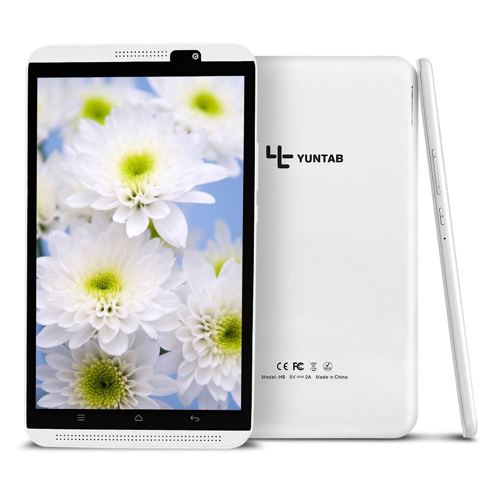 Yuntab 8 Android 6,0 Tablet PC H8 Quad-Core 2 ГБ Оперативная память 16 ГБ Встроенная память 4G мобильный телефон с двойной камерой bluetooth 4,0 Поддержка sim-карты