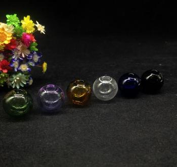 300pcs mix color round ball glass globe bubble glass vial pendant jar glass vial wishing bottle necklace diy jewelry container