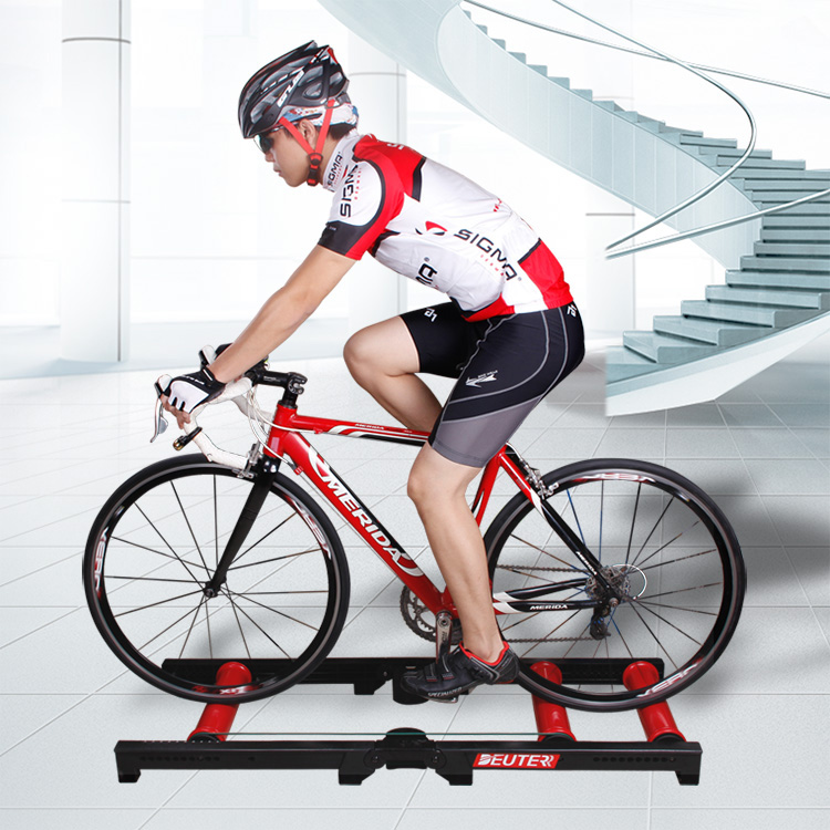 Muting Indoor Cycling indoor training station Cycling Exercise Station Bike Trainer Physical for Long Distance Match road bicycle exercise fitness station indoor training station mtb bike trainer folding roller training tool 3 stage folding