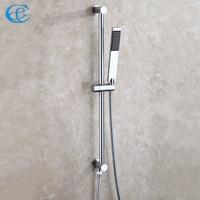C&C Chrome Rainfall Bathroom Hand Shower Faucet Set All Copper Lifting Bracket Rotation Stents Holder For Handheld Shower Head