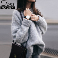 Autumn Winter Oversized Sweater Women Casual Vintage Basic Thick Warm Pullover Female Loose Knitted Jumper Ladies Solid Sweaters