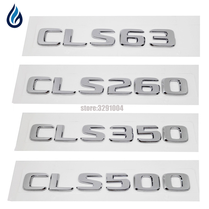 Car styling For Mercedes Benz CLS Class AMG CLS63 CLS260 CLS350 CLS500 W218 W219 Emblem Rear Trunk Number Letter Badge Sticker 27pcs led interior dome lamp full kit parking city bulb for mercedes benz cls w219 c219 cls280 cls300 cls350 cls550 cls55amg