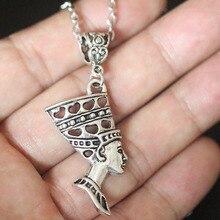 Egyptian Queen Nefertiti Goddess Head Pendant Necklace For Women Christmas Gifts Vintage Choker Collier Bijoux Jewelry
