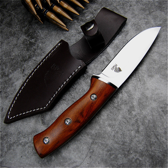 PEGASI Japanese mirror light high quality 9CR18Mov  tactical knife outdoor hunting knife outdoor defensive sharp camping knife 3