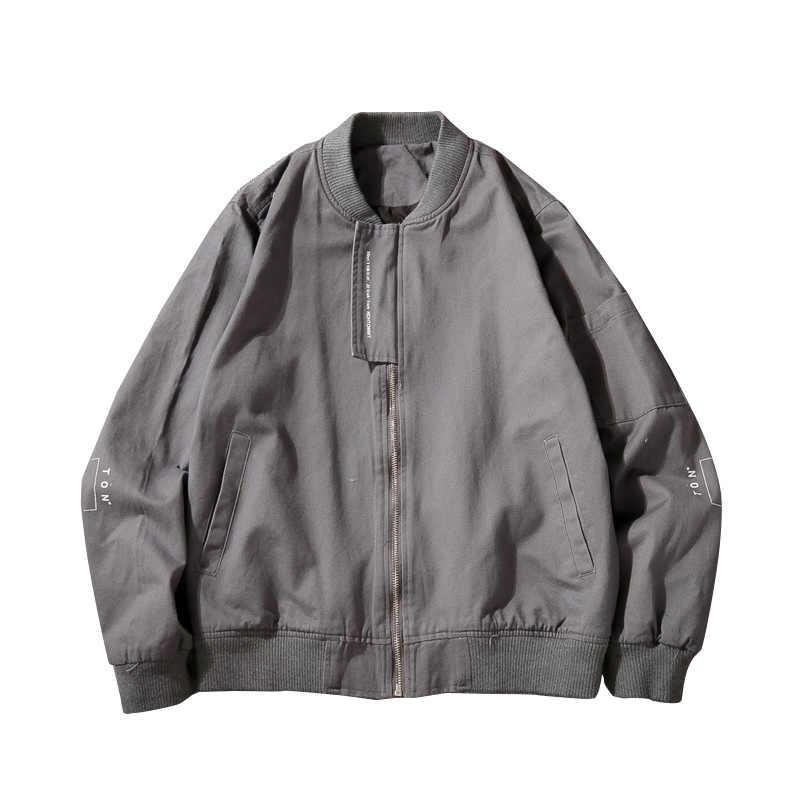 Осенние мужские s куртки Slim Fit Pilot bomber куртка пальто мужские куртки размер 5XL мужская куртка военный армейский солдатский хлопок Мужская одежда