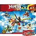 4 En 1 Ninjagoes Dragón Bloque de Construcción JAY KAI Lloyd COLE ZANE WU NYA GARMADON Ninja Juguetes Compatible con Lepin
