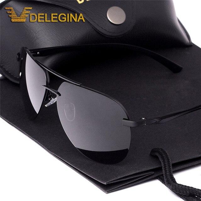 d09bac594c57 2017 Mens Polarized Sunglasses Men Dark Sun Glasses Black Driving Shades  With Free Case gafas BF052B