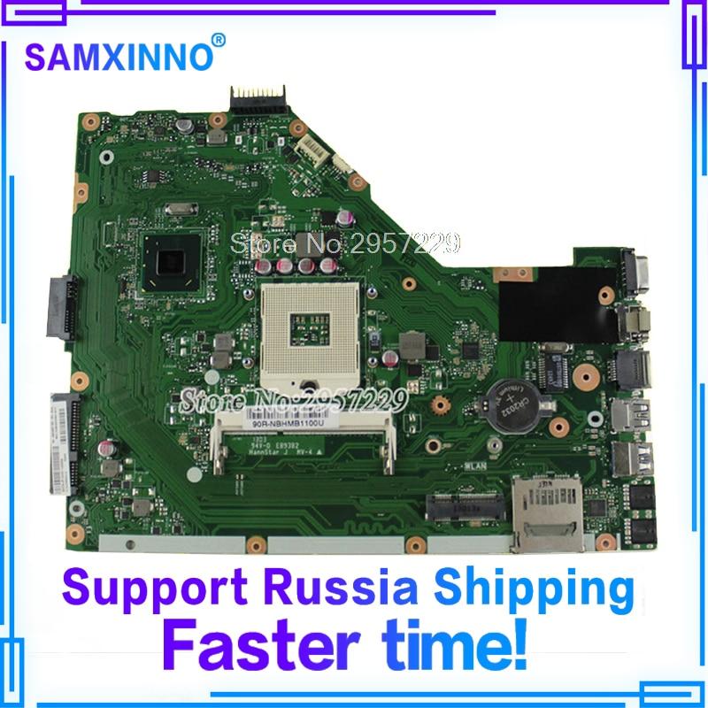 For Asus X55A Laptop motherboard REV.2.1/REV.2.2 DDR3 PGA989 HM70 Test good 24 rev 30
