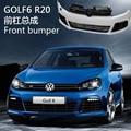 Оригинал PP R20 R Линия Дизайн Автомобиля Передний Бампер В Сборе обвесы LED DRL Фары Решетка Грили Для VW Golf 6 VI MK6 Golf6 GTI