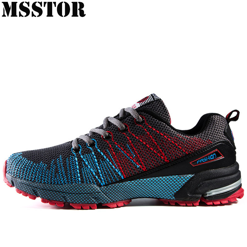 MSSTOR Men Running Shoes Man Brand Outdoor Athletic Sports Run Summer Breathable Mesh Mens Sneakers Jogging Sport Shoes For Men 2017 spring summer running shoes for men brand walking sneakers mesh breathable mens trainers jogging sport shoes cheap zapatos