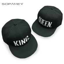 Lovers Embroidery King Queen Baseball Cap Dad Hat Bones Women Men Hat Male Female Snapback Street Bone Brand Black Hip Hop Cap