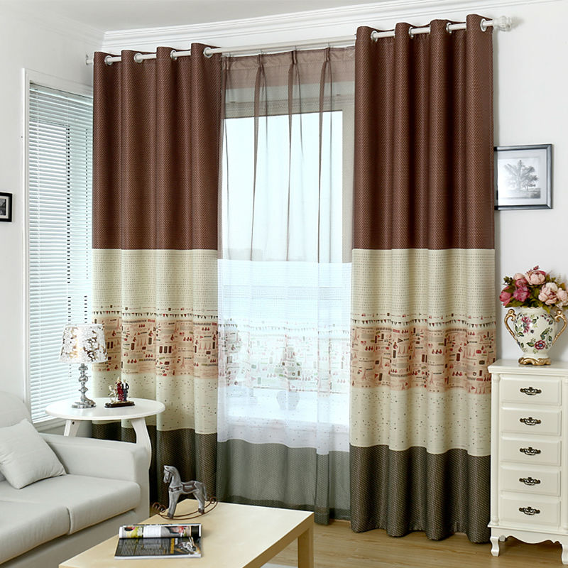 2 Colors Blackout Curtains For Living Room Bedroom Kitchen