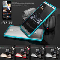 Mate 8 P9 Luxury Aluminum Bumper Case For Huawei Mate 8 Shape Metal Frame Phone Cases For Huawei Ascend P9 +Tempered Glass