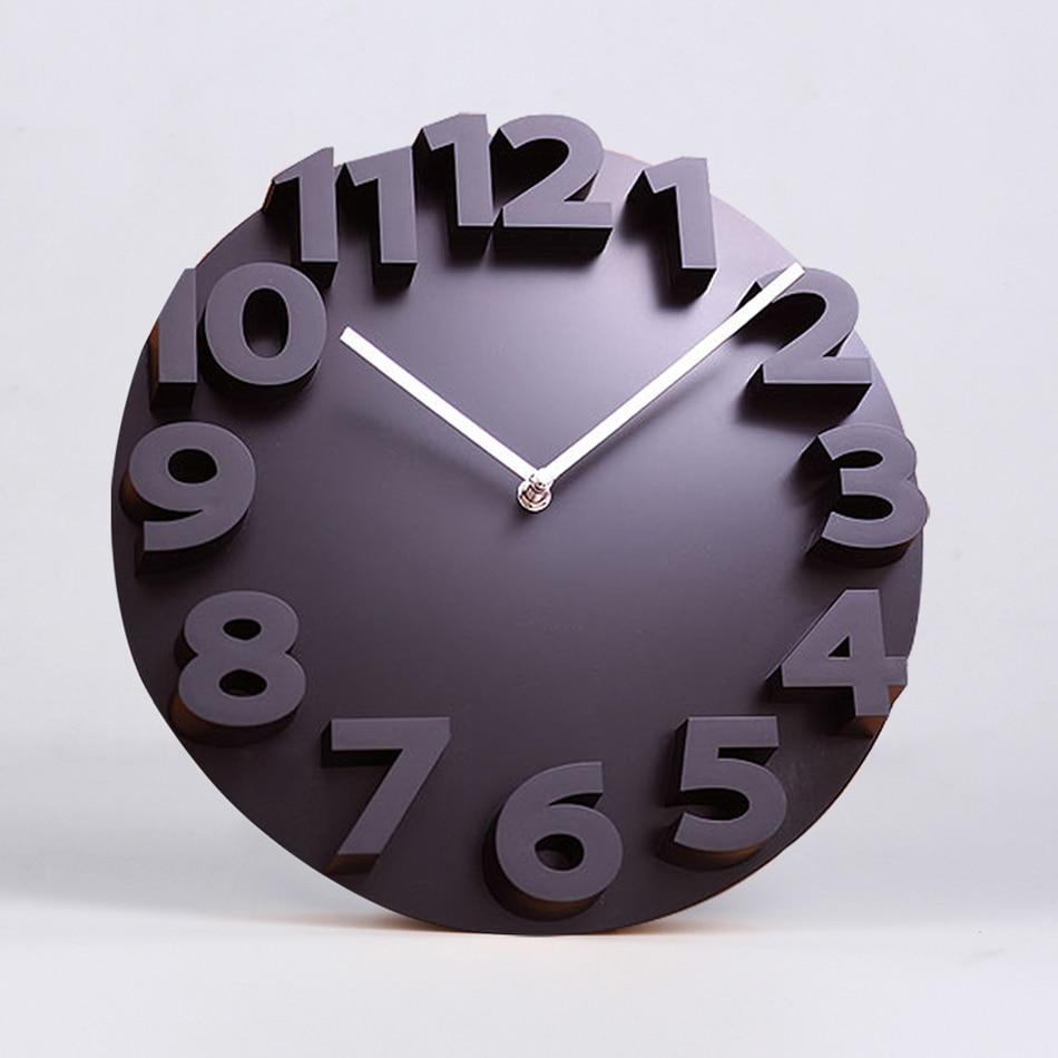 Big Number 3d Wall Clock Digital Large Decorative