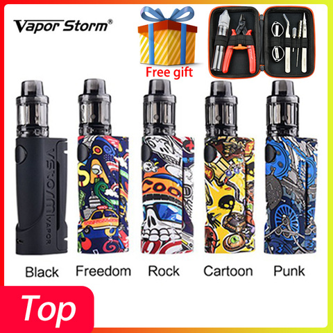Free gift Vape Cigarette Kit Vapor Storm ECO Vape kit Max 90W & 3.5ml Disposable Tank Box Mod Vape 510 Electronic Cigarette Kit Pakistan