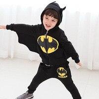 Kids Boys Cosplay Halloween Costume Children S Clothing Suits Cartoon Batman Costume Wings Children Black Suit