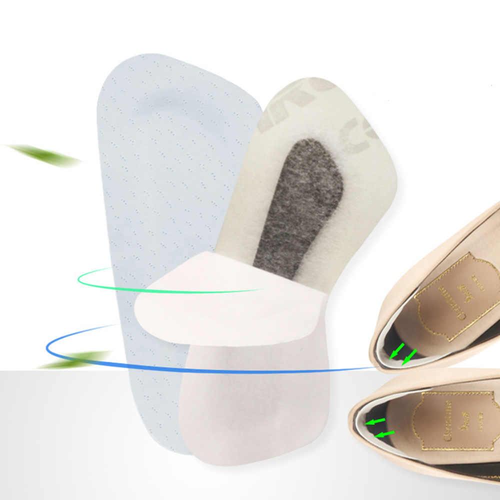 1 쌍의 뒤꿈치 패드 내마 모성 발 내구성 시뮬레이션 가죽 뒤꿈치 신발 스티커 Insoles 보호 패드