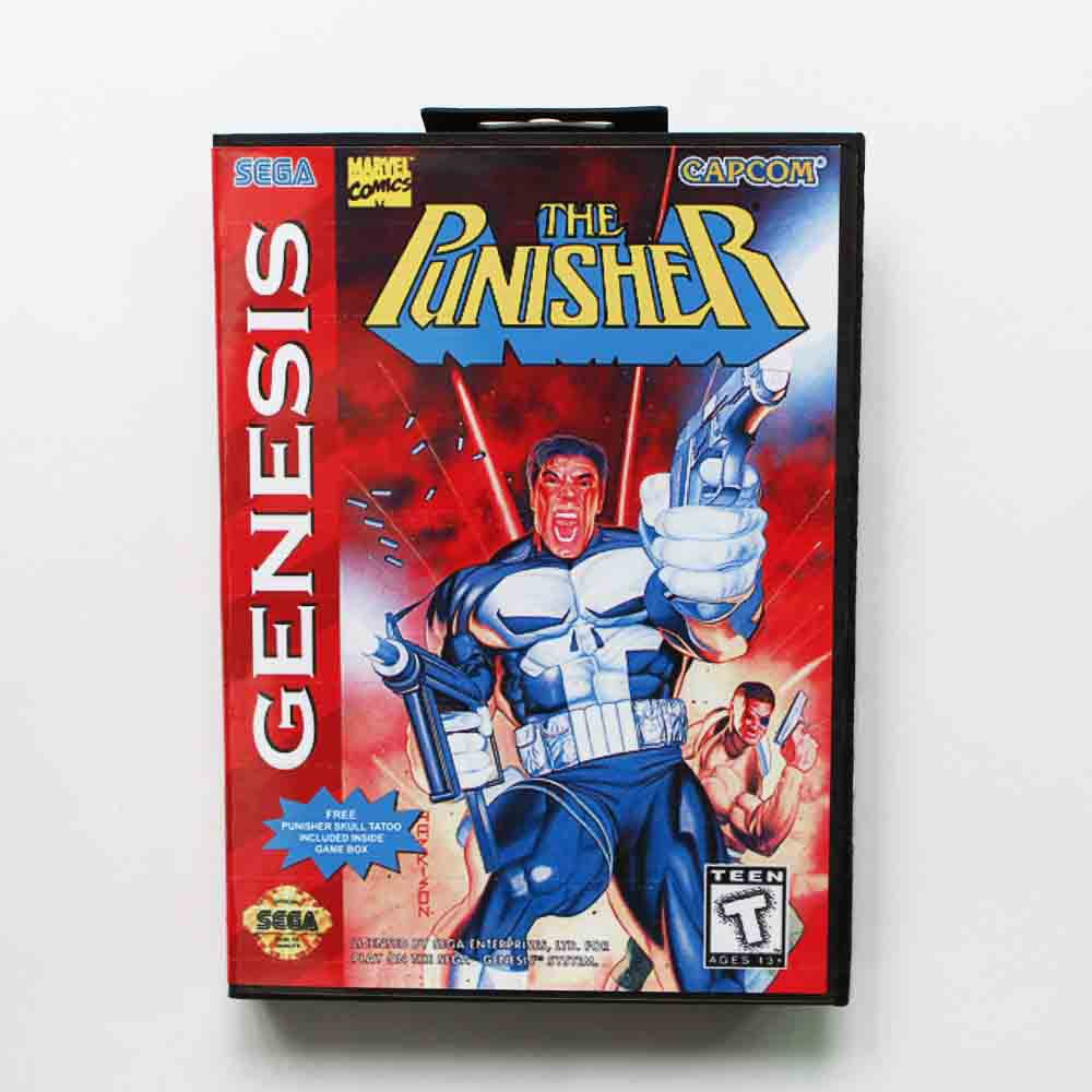 The Punisher Game Cartridge 16 bit MD Game Card With Retail Box For Sega Mega Drive For Genesis