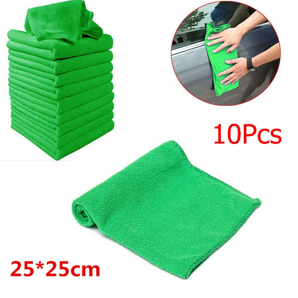 5/10x Microfiber Car Wash Towel Soft Cleaning Auto Car Care Detailing Cloths Wash Towel Duster 9.84'' x 9.84''Inch(China)