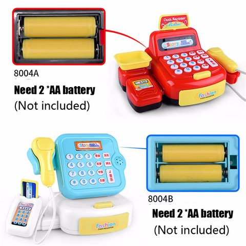 Plastic Mini Simulated Supermarket Checkout Counter Role Girls Cash Register Machine Toys Educational Pretend Play Kids Toys Islamabad