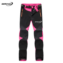 2016 Women Outdoor Sport Winter Hiking Pants Windproof Waterproof Hunting Camping Snowboard Softshell Climbing