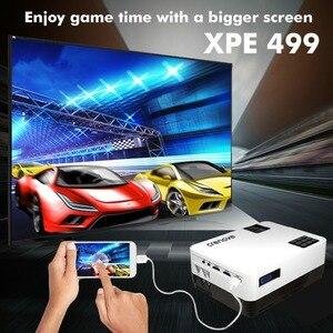 Image 2 - CRENOVA 最新のビデオアンドロイド 6.1OS 4300 ルーメンの Wifi Bluetooth HD 1280*728 1080p ホームシアター映画プロジェクタービーマー