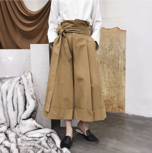 цена на Yifsion Mens Solid Color High-waisted Loose Ninth Pants Fashion Chic Wide Leg Pants