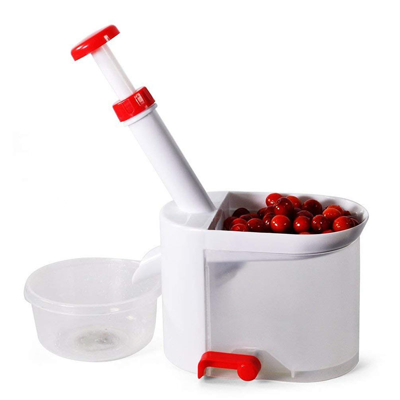 Cherry Pitter pit Seed Remover Machine Grape Corer Slicer With Container Fruit Kitchen Gadgets Tools Accessories