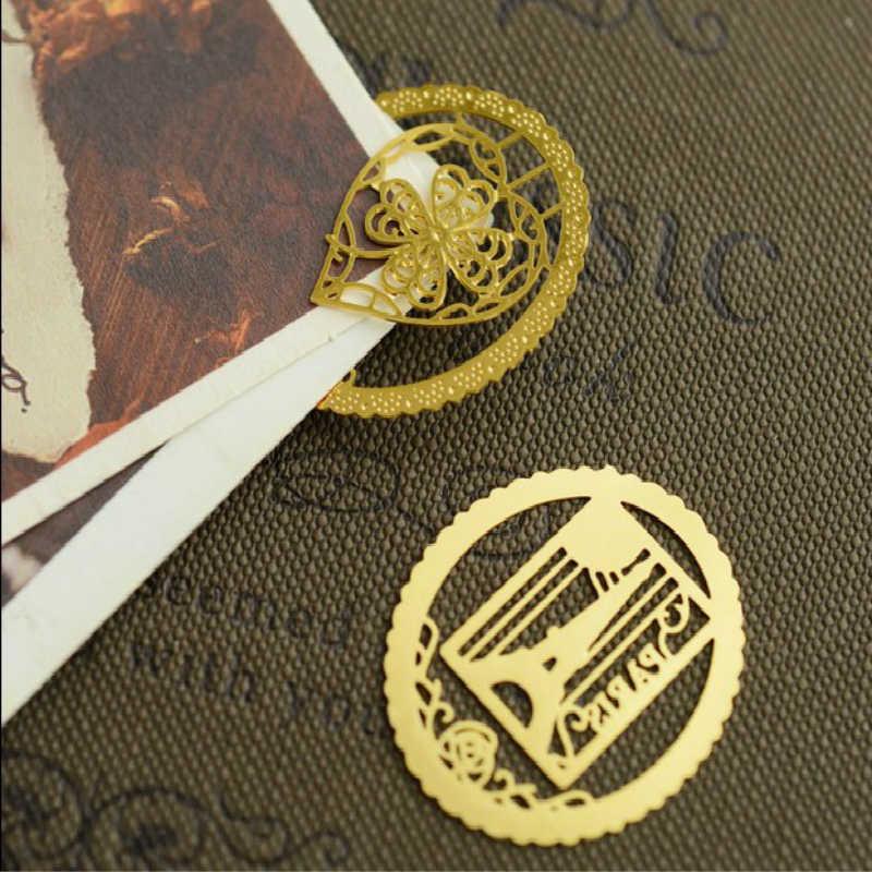 لطيف Kawaii مفتاح قفص العصافير برج ايفل الحيوان مشبك للكتب العلامات المعدنية مقاطع للمدرسة مكتب القرطاسية المعلمين الاطفال هدايا