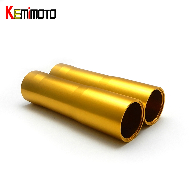 KEMiMOTO For YAMAHA MT 07 FZ 07 MT-07 FZ-07 Motorcycle CNC Aluminum Front Fork Tube Slider Cover MT07 2014 2015 2016 2017 цена