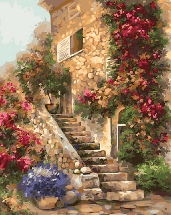 Frameless picture oil painting by numbers wall decor diy painting on canvas for home decor 4050 cottage