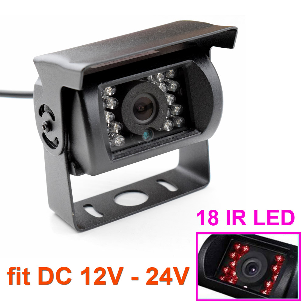 New 170 Degree Universal Waterproof 18 IR LED Night Vision Car Rear View Camera for Truck