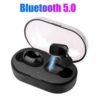 NEW T6 Waterproof Bluetooth V5.0 TWS Wireless Head phone Bluetooth Earphone + Charging Box Hi Fi Stereo Sound Bilateral Call