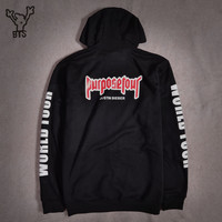 Justin Bieber Purpose Tour New Brand Sweatshirt Men Hoodies Fashion In Fear Of God Mens Hoodies