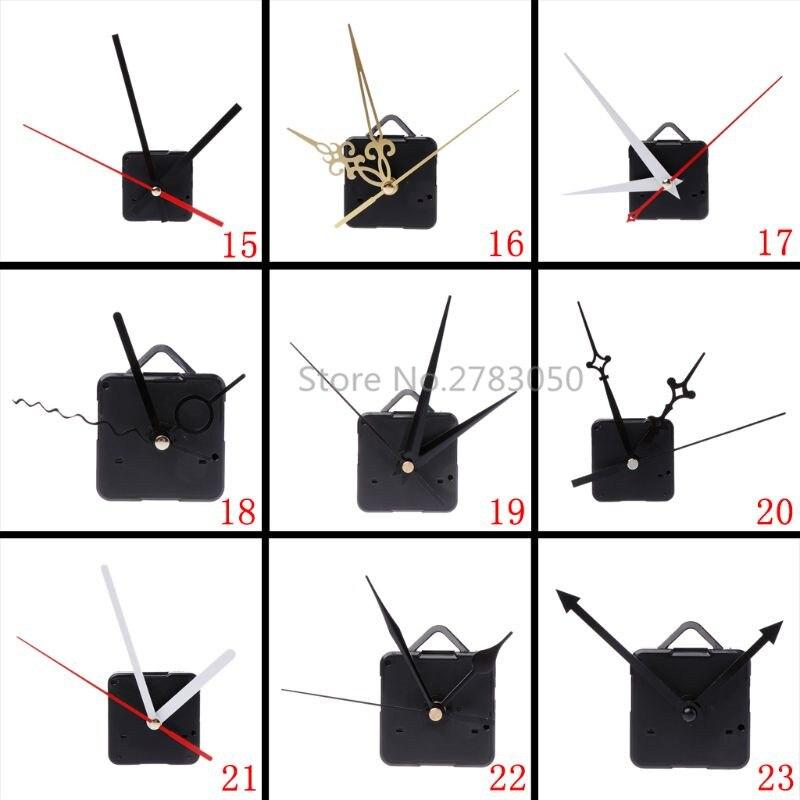 Horloge murale silencieuse | Grande horloge à Quartz mécanisme de mouvement, mains mur réparation pièces Kit de pièces bricolage 27 Types