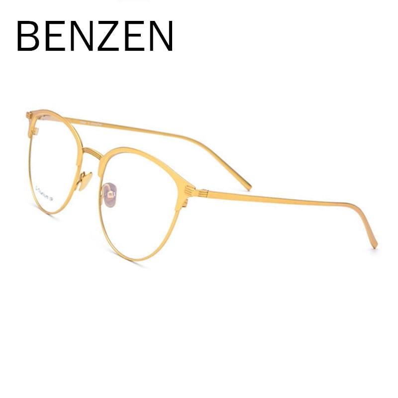 BENZEN pur B titane lunettes cadre hommes carré Prescription lunettes lunettes Vintage myopie optique lunettes oeil verre 5139